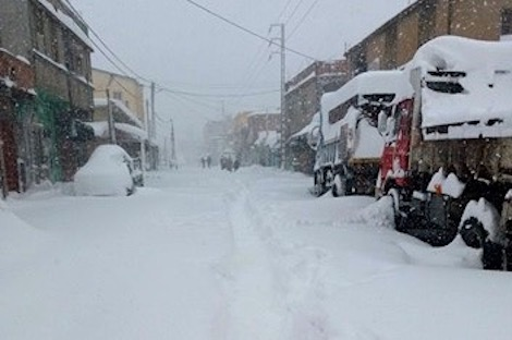 Midelt chutes de neige vague de froid1 615992574