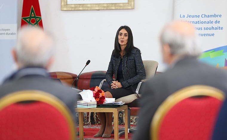 La Ministre du Tourisme, de l'Artisanat, du Transport Aérien et de l'Economie Sociale Mme Nadia Fettah,