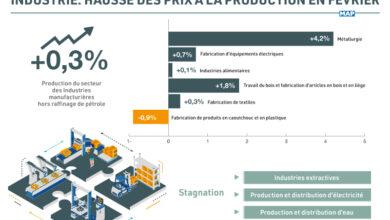 Industrie: Hausse des prix à la production en février
