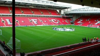 Le stade d Anfield agrandi a Liverpool