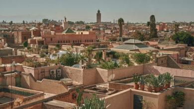 marrakech medina panorama toits